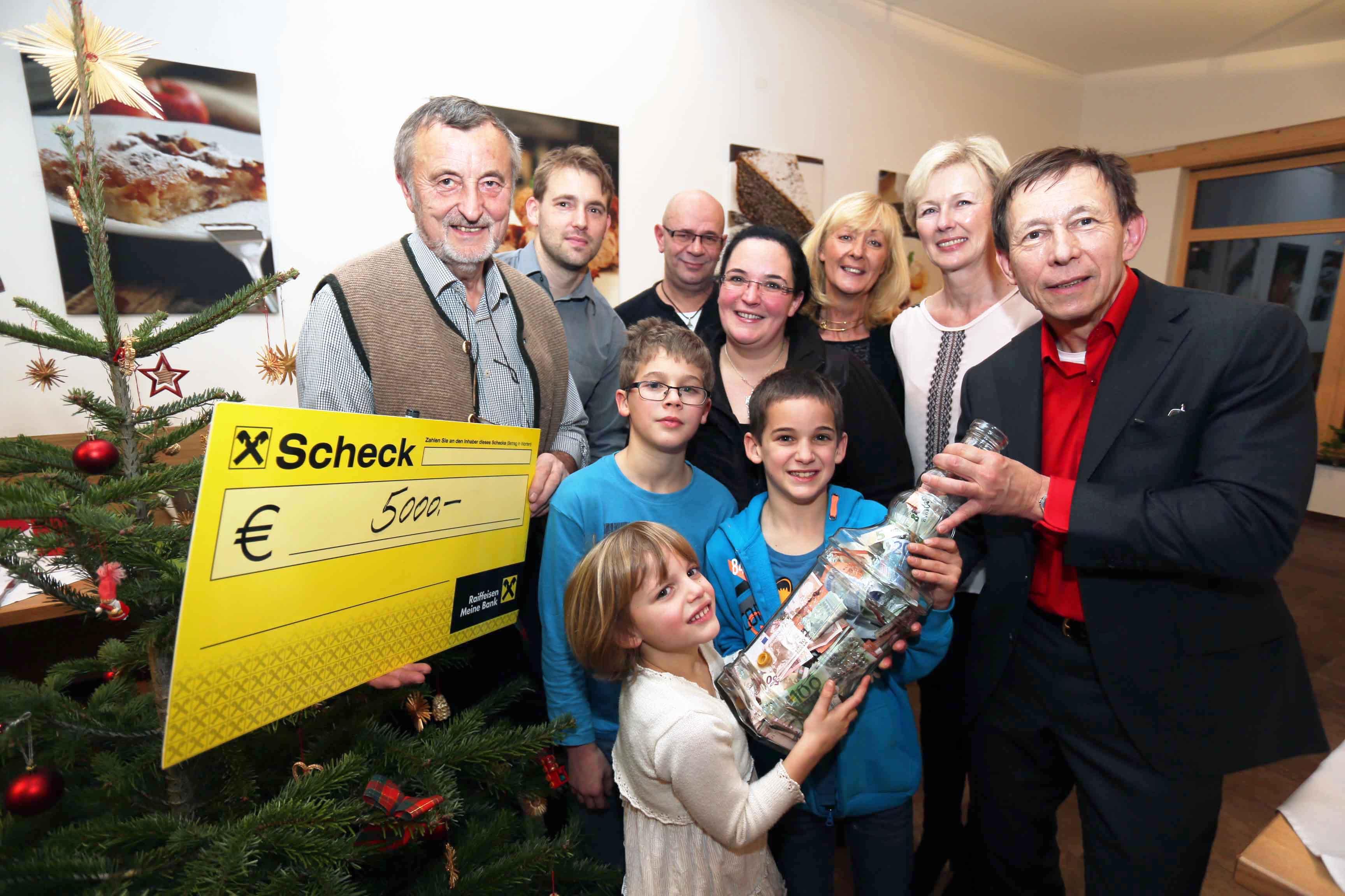 Wirtshaus im Wienerwald spendet 5000 Euro