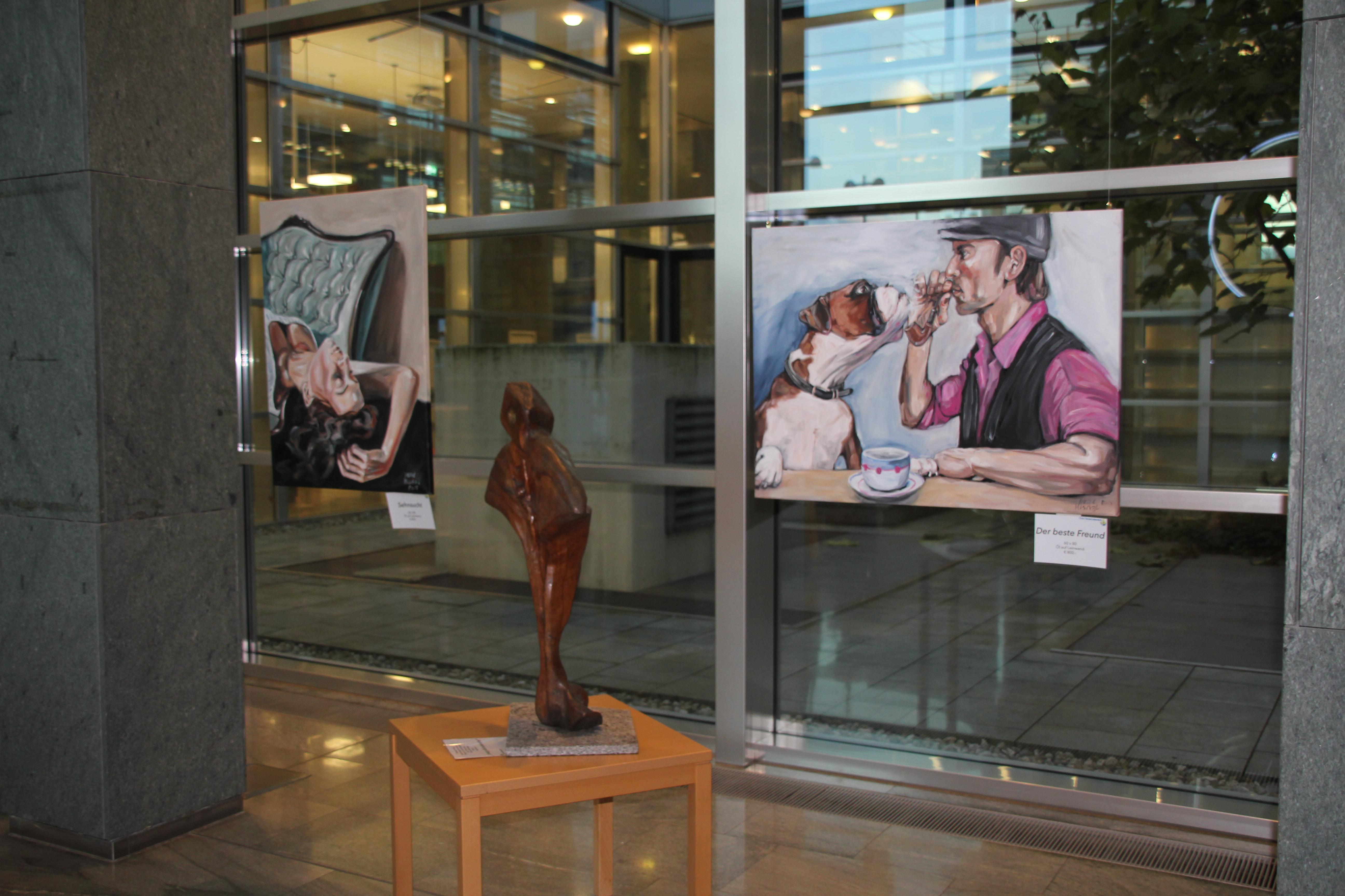"""Vernissage """"Begreifbare Kunst. Reflexionen mit Pinsel, Meißel und Motorsäge"""" – 10.11.2015"""